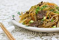 土豆丝炒牛肉的做法