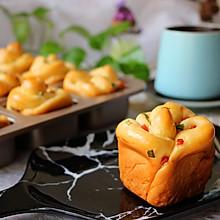 香肠沙拉玫瑰花面包#有颜值的实力派#
