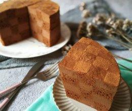 巧克力棋格蛋糕的做法