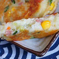 外酥里嫩的鲜蔬土豆饼,简单快手的营养早餐,可做小吃可做主食的做法图解7