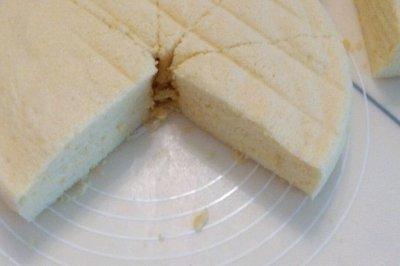8蛋10寸蒸戚风蛋糕