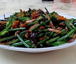 韭菜肉丝的做法