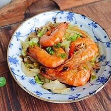 十分钟快手菜——大虾烧黄白菜