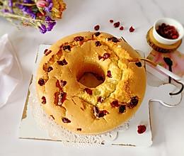 """#""""莓""""好春光日志#蔓越莓戚风蛋糕的做法"""