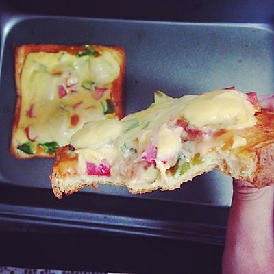 懒人披萨,三分钟披萨——百吉福创意芝士早餐菜谱