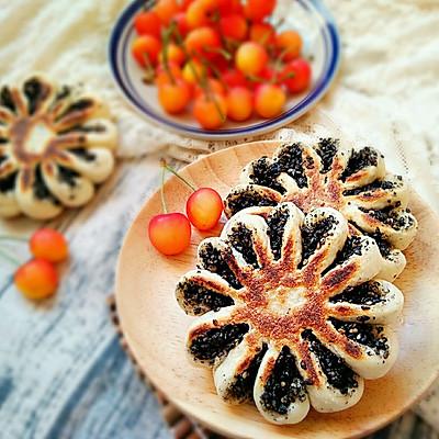 芝麻糖奶香菊花饼――这样的能量早餐敲好吃