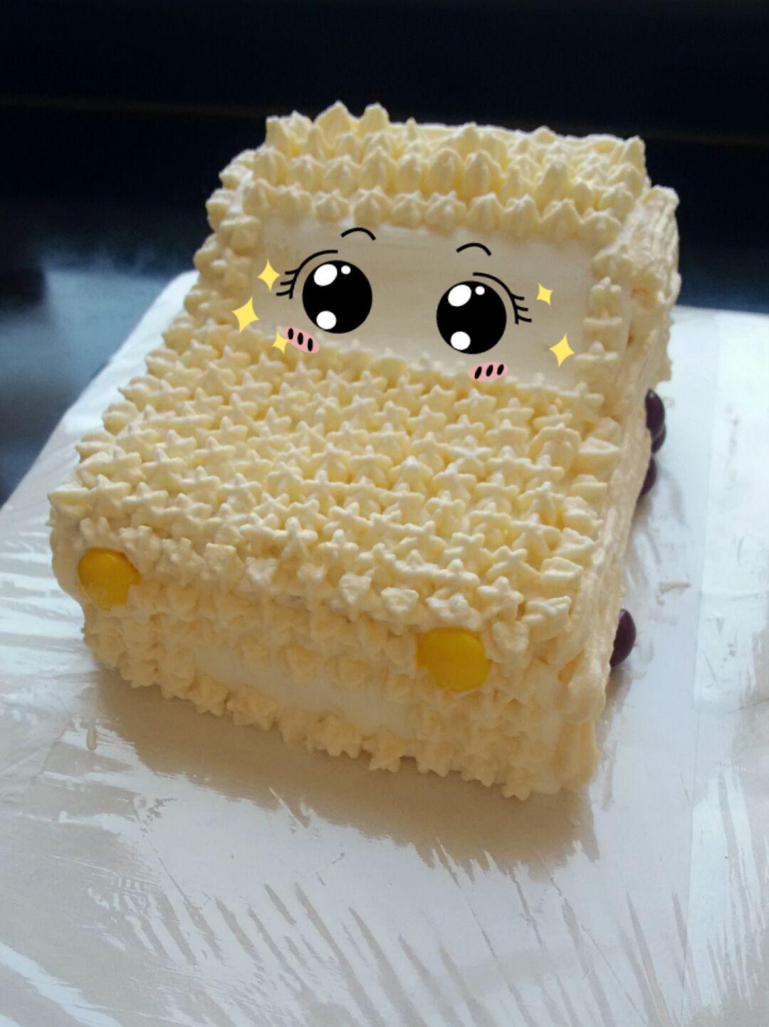 小汽车蛋糕的做法