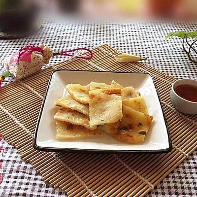 椒盐榨菜葱油饼