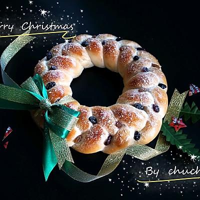 圣誕花環酸奶面包(50%中種法)