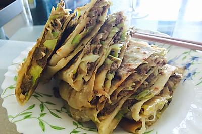 老北京家常肉饼(牛肉大葱)