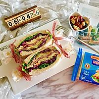 多彩野餐三明治#百吉福食尚达人#的做法图解18