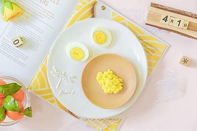辅食日志 | 蛋黄泥米糊
