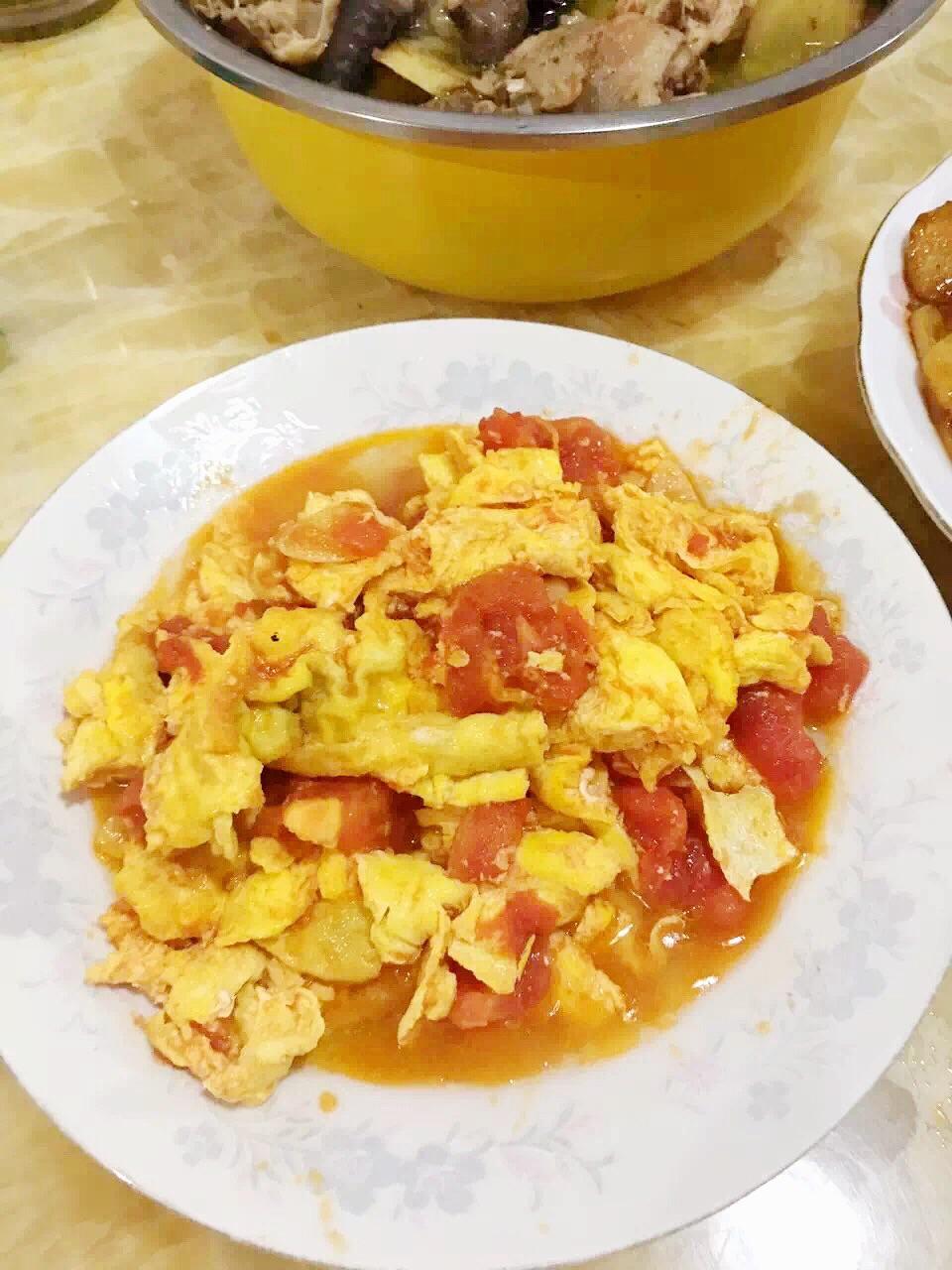 西红柿炒鸡蛋 宝宝下饭菜图片