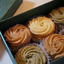 曲奇饼干-抹茶、咖啡、香草的甜蜜三色
