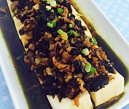 #美的聪明火微波炉#橄榄菜肉末蒸豆腐的做法