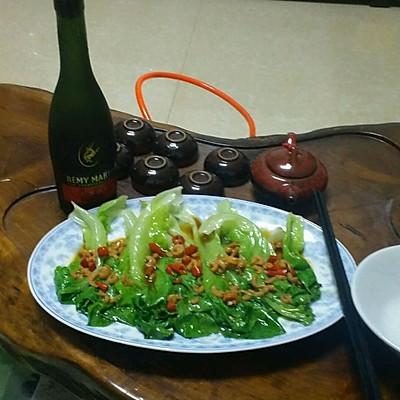 虾米蚝油配生菜