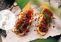 西葫芦开放式三明治的做法