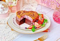 #憋在家里吃什么#紫薯芝士布朗尼小情人做给大情人的蛋糕的做法