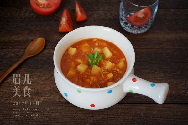 番茄土豆浓汤的做法