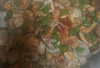 花蛤炒鸡的做法