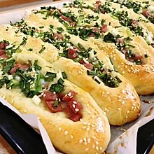 葱花火腿肠咸面包