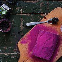 紫薯蓝莓毛巾卷的做法图解16
