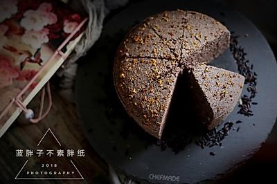 低油不上火的黑芝麻黑米糕