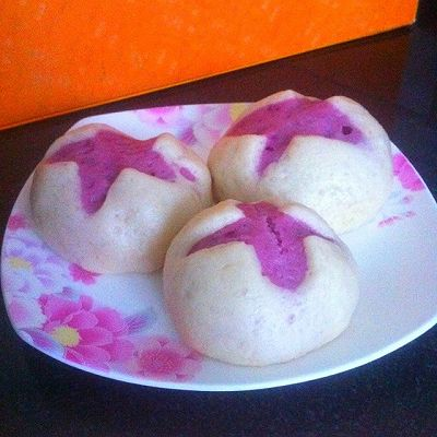 紫薯花开馒头