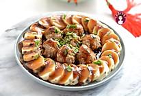 #钟于经典传统味#蒸蒸日上——蒸山药肉丸的做法