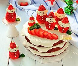 过个萌萌的美美的圣诞节【欢乐滴雪景圣诞老人蛋糕】的做法