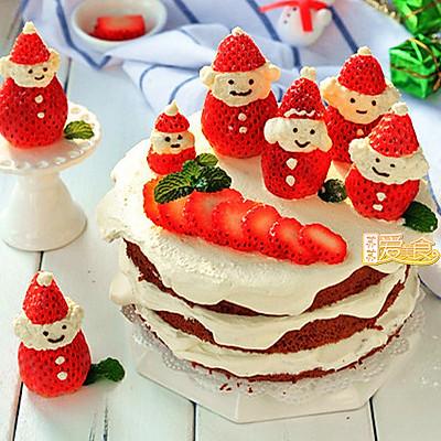 过个萌萌的美美的圣诞节【欢乐滴雪景圣诞老人蛋糕】