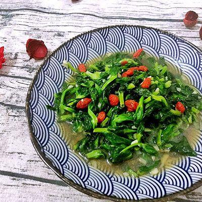 蒜蓉豌豆尖—10分钟快手菜