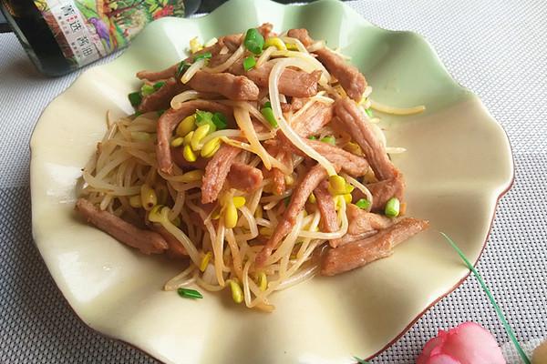 #菁选酱油试用之 肉炒豆芽的做法