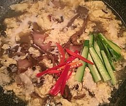 腊肉茶树菇鸡蛋汤的做法