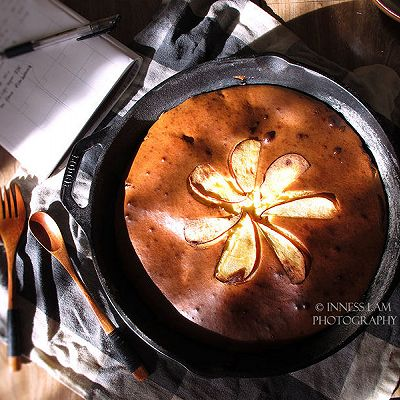 【铸铁锅奶酪夹心酸奶苹果蛋糕】低脂更健康