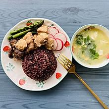 香菇豉汁排骨杂粮饭