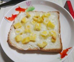 菠萝蜜微波芝士吐司的做法