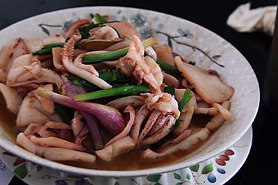 咸鲜|姜葱爆鲜鱿