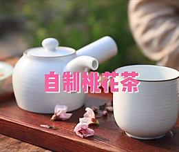 自制桃花茶的做法