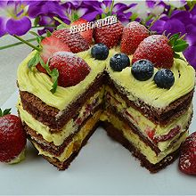 香草巧克力裸蛋糕