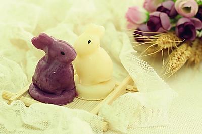 3D立体玉兔冰皮月饼