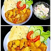 印度美食红鸡肉的做法_【图解】印度咖喱红咖鸡肉卡岸图片