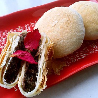 酥皮玫瑰月饼(低油更健康)