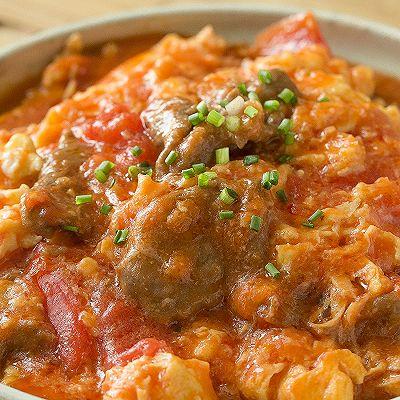 【番茄滑蛋牛肉】番茄炒蛋加了它,嫩滑鲜美大升级!