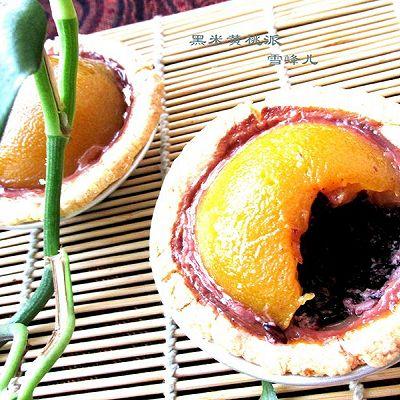 黑米黄桃派