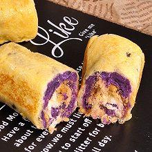 紫薯肉松卷