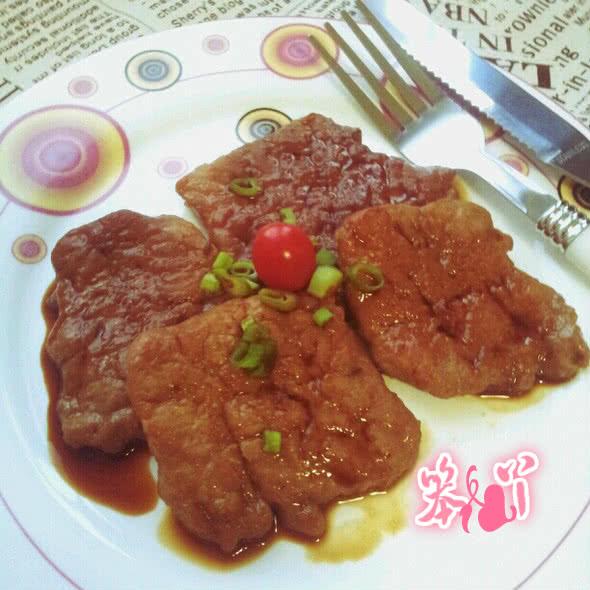 """煎猪排——格兰仕""""百变金刚""""立式电烤箱试用菜谱的做法"""