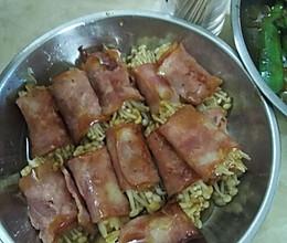 培根卷金针茹的做法