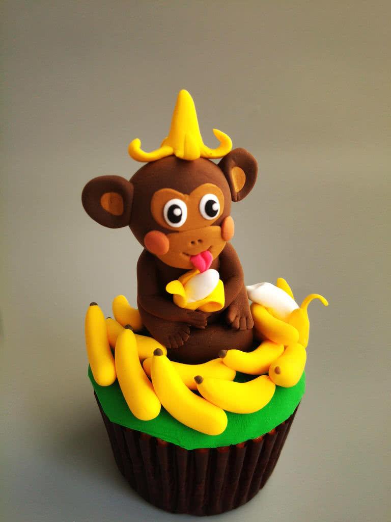猴赛雷翻糖杯蛋糕#豆果5周年图片