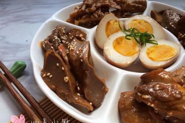 凉拌鸭翅、鸭胗、卤肉#丘比沙拉汁#的做法